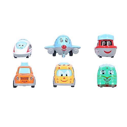 01 Fahrzeuge-Spielzeug-Modell, Mehrzweck-Auto-Spielzeug-Karikatur-Auto-Modell für Zuhause für Kindergarten für Geschenk