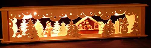SchwibboLa Schwibbogen 2-45 Schwibbogenerhöhung für Lichterbogen Made Erzgebirge Seiffen Maße: 52x10x11cm (BxTxH) …, 1