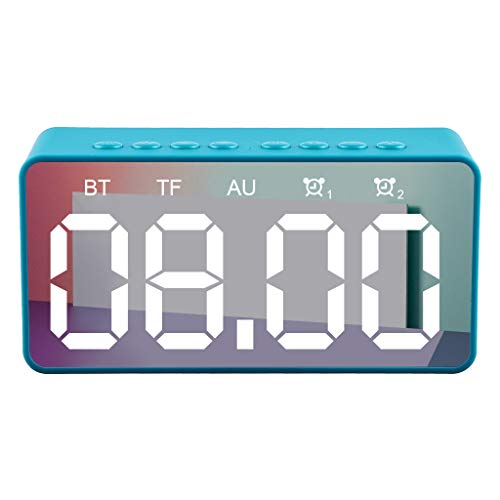 LRWEY BT506 Mini Bluetooth Wireless Super Bass Speaker TF Card Audio Alarm Clock Home für iPhone, Samsung usw.