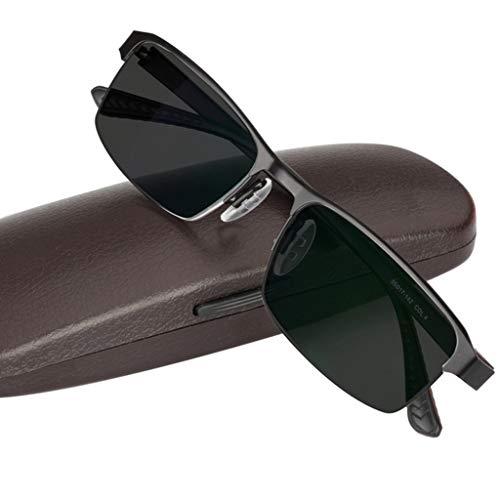 ZY Reading Glasses Gafas de Lectura, Gafas de Sol progresivas fotocromáticas de transición Inteligente, Material de Acero Inoxidable con bisagras de Resorte, para Hombres/Mujeres