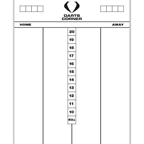 Darts Corner Dart-Eck-Markierungstafel, strapazierfähiges Acryl, trocken abwischbar, 50 x 40 cm, Whiteboard, Cricket