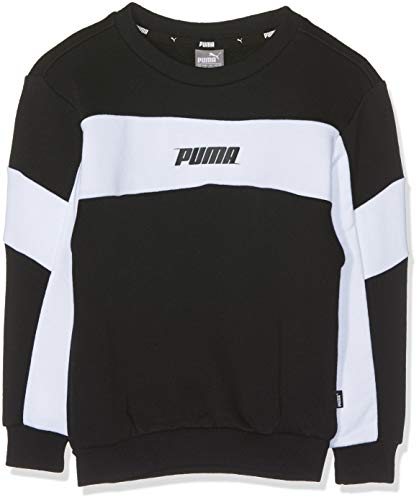 PUMA Jungen Rebel Crew Sweat B Sweatshirt, Cotton Black, 128