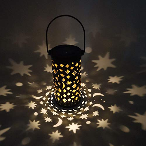 Stars Hollow Out Metal Shell Garden Lights LED Outdoor Solar Light Induction Ground Plug Light Hanging Light Garden Decor