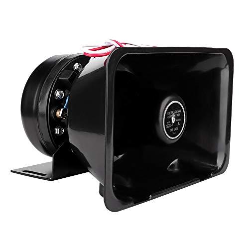 Esenlong 12V 200W Altavoz de Bocina de Alarma de Advertencia de Coche Universal Súper Fuerte Funciona con Sistema de Alarma (Cable de Color Aleatorio)