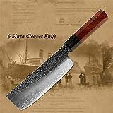 Cuchillo de cocina Cocina del cuchillo del cocinero de tres capas de acero forjado hecho a mano de Sharp Cleaver Kiritsuke el deshuesado Santoku pelado cuchillos utensilios de cocina