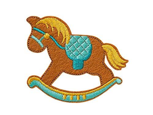 Mono-Quick Toppa termoadesiva, Applicazione per Ferro da Stiro, Cavallo a Dondolo, 7,0 x 6,0 cm