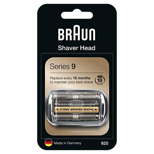 Braun Series 9 92S Cabezal de Recambio Plata para Afeitadora Eléctrica Hombre, Compatible con las Afeitadoras Series 9