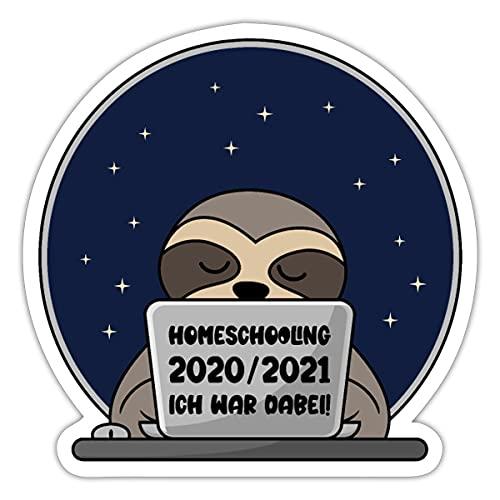 Spreadshirt Homeschooling 2020 2021 Ich war dabei! Sticker, One Size, Mattweiß