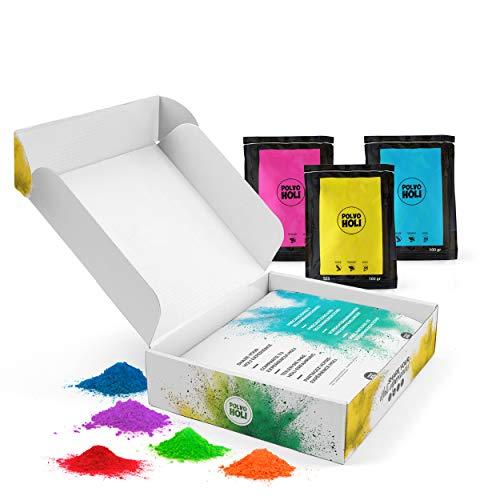 Pack 8 Taschen Holi Pulver 100 Gramm - Special Edition - 8 Farben