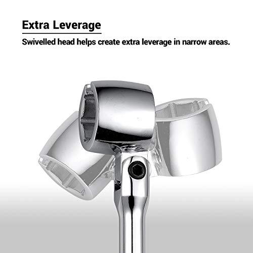 EWK 22mm 7/8 Inch O2 Oxygen Sensor Flex Head Wrench Removal Tool