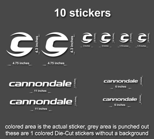 10x Cannondale Road, Mountain, Downhill Bike Sticker/Decal Laptop, Helmet, Bicycle, car (Orange)