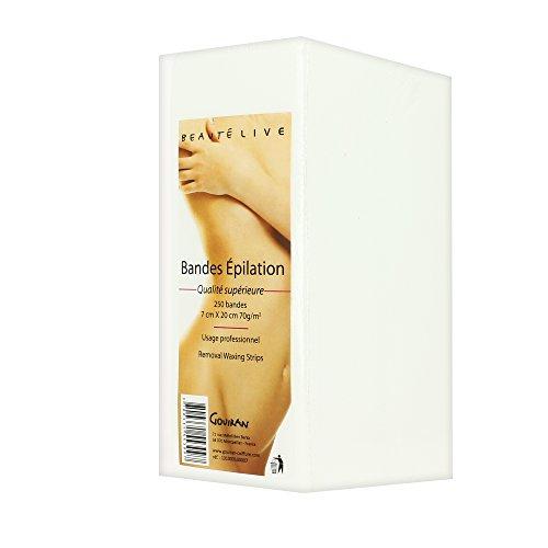 Bandes d'épilation x 250, jetables, Beautélive