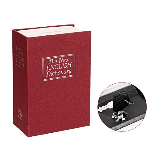 Fesjoy Caja de Libro de Diccionario, Caja Secreta Diccionario Caja Fuerte Libro Dinero Cerradura de Seguridad Oculta Efectivo Moneda Almacenamiento Bloqueo de Llave para Regalo de niño