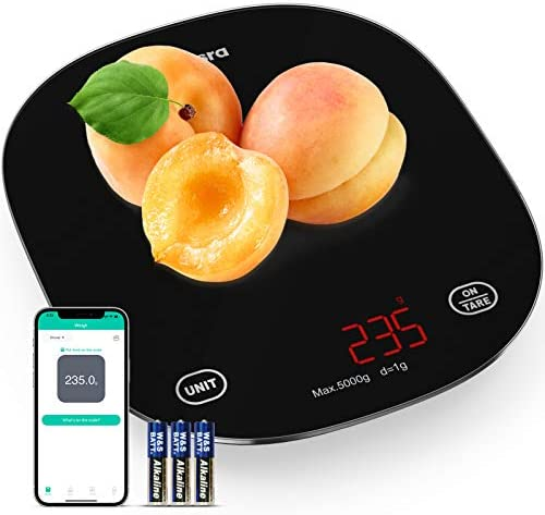 Phansra Smart Food Scale Bluetooth Digital Kitchen Scale for Baking Cooking with Nutritional product image