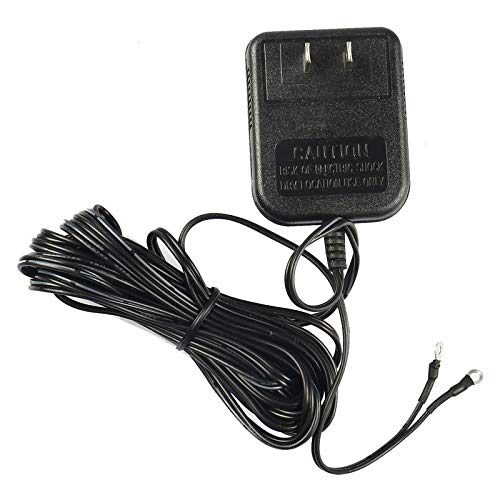 Transformador de timbre de 24 V CA 500 mA compatible con amost de timbre de anillo, con cable largo de 8 m (negro)