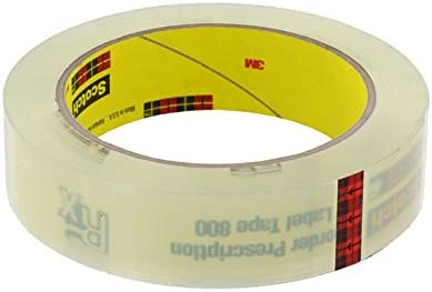 Scotch(R) Prescription Label Tape 800 Clear, 2 in x 72 yd