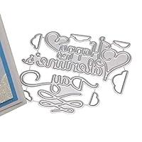 Yueding スクラップブッキングのカットは、ハッピーバレンタインデーメタルダイカットクリアランスは、アートクラフトの装飾用品を作るDIYのアルバム紙カードのステンシルエンボス加工