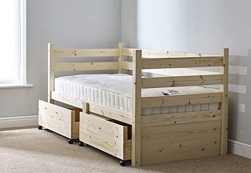 Strictly Beds and Bunks - Ripvan Pine Day Bed with Storage Drawers, 3ft Single