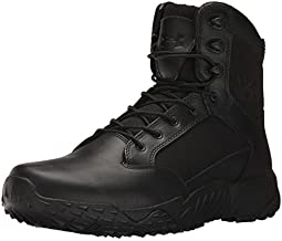 Under Armour mens Stellar Side Zip Military and Tactical Boot, Black (001 Black, 10.5 US