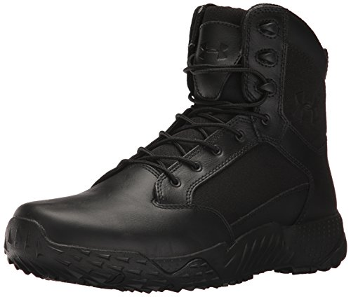 Under Armour Men's Stellar Tac Side Zip Military and Tactical Boot, Black (001)/Black, 10