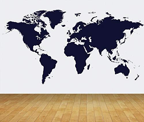 Chicbanners Wereld Kaart Outline Silhouette Muur Papier Achtergrond BACKDROP Scene Setter GROTE Lijm Verzegeld Vinyl 2m hoog x 2,7m breed MAKES IMPACT