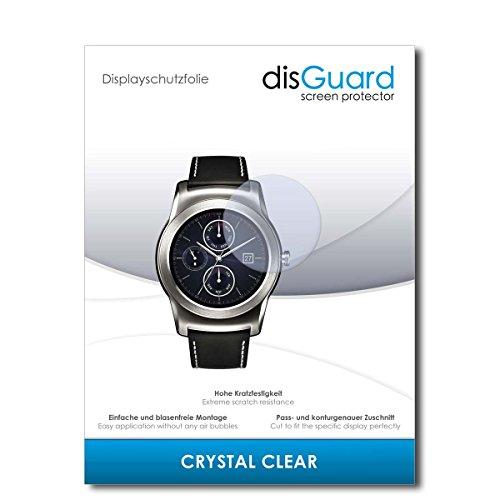 disGuard Displayschutzfolie für LG Watch Urbane LTE 2nd Edition [4 Stück] Crystal Clear, Kristall-klar, Unsichtbar, Extrem Kratzfest - Displayschutz, Schutzfolie, Glasfolie, Panzerfolie
