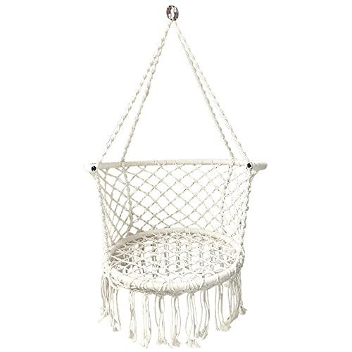 YYGQING Cesta de colgaje para Interiores y al Aire Libre Silla Colgante Cuerda de algodón Tassel Tejido Swing Schail Hamaca (Color : A)