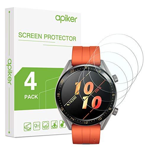 Schutzfolie für Huawei Watch GT Classic und GT Active, Huawei Watch gt Ative Panzerglas mit 9H-Härte, Kratzfest, blasenfrei, hohe Definition, hohe Empfindlichkeit