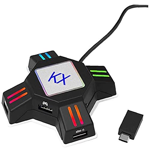 Yililay Teclado Ratón Adaptador Gamepad del convertidor del convertidor KX Compatible con...