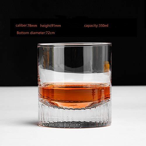 ChengBeautiful Vaso De Whisky De Cristal Crystal Cortos Whisky Vasos Vasos de Cristal, Cristal Creativo Whisky de Cristal Set de Vino (Color : B, Size : One Size)