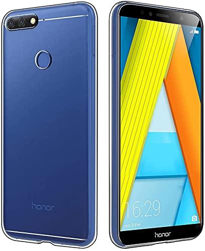 Bravoday Hülle für Huawei Y6 2018 / Huawei Honor 7A, Silikon Gel TPU Soft Cover Hülle Schutzhülle Kratzfeste Shockproof Hülle Handyhülle für Huawei Y6 2018 / Huawei Honor 7A, Transparent