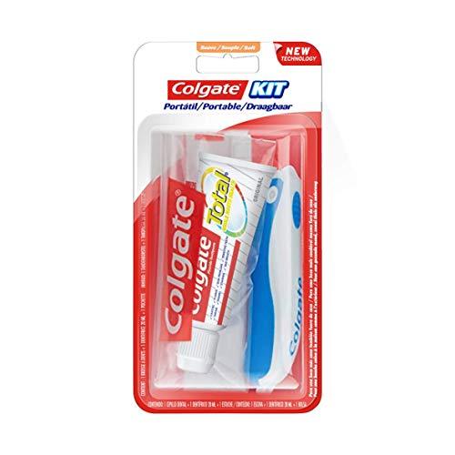 COLGATE - Kit de Voyage Colgate Total Original - Mini-Brosse à Dents Souple + Mini-Dentifrice (20 ml) - Protection Complète pendant 12 h contre les Problèmes de Dents et de Gencives