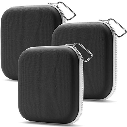 Face Mask Holder Mask Case - Zippered Case Storage Pouch for Mask - Superior Quality Woven Fabric - Face Covering Storage Pouch Organizer Case - 3 Pack (Black)