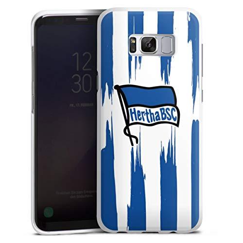 DeinDesign Hard Case kompatibel mit Samsung Galaxy S8 Schutzhülle weiß Smartphone Backcover Offizielles Lizenzprodukt Bundesliga Hertha BSC