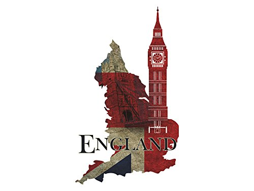 GRAZDesign Wandtattoo Big Ben - Wanddeko England - Türtapete London / 51x30cm / 721690_30