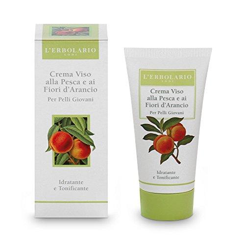 L'Erbolario Crema per il viso con pesca e fiori d'arancio - 50 ml