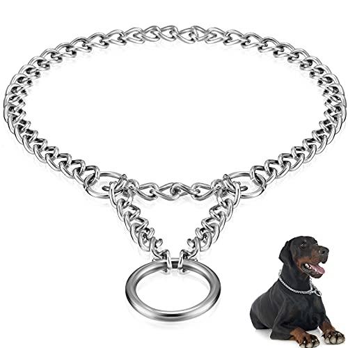 Metall Martingale Hunde Halsband Verstellbar Hund Choke Kette Metall Hund Training Choke Halsband Hundehalsband Leine Metall Slip Pet Choker für Haustiere Hunde Täglich Walking Training 2mm x 30-40cm