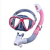 Máscara de snorkel para niños, sistema de respiración seguro,...