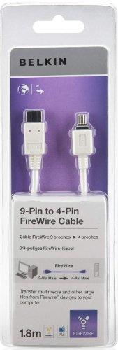 Belkin F3N403CP1.8M - Cable FireWire (1.8 m, 9 Pin/4 Pin, 800/400, Macho/Macho),...