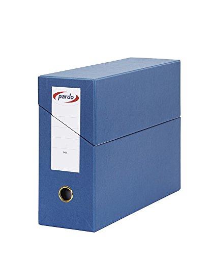 Pardo 245703 - Estuche archivador horizontal, 80 mm, color azul