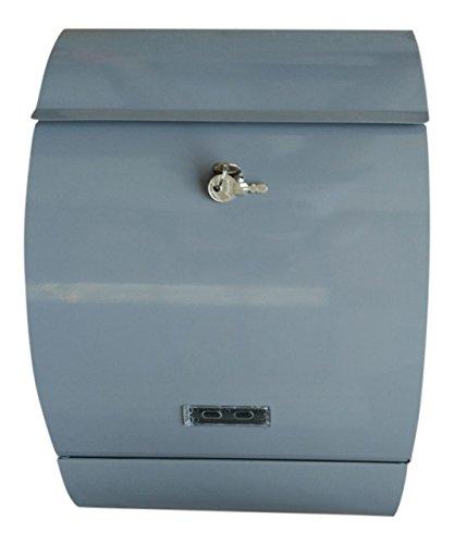 Brievenbus XL extra diep brievenbus antraciet brievenbus zijdelings kijkvenster afsluitbaar incl. bevestigingsmateriaal Jet-Line grijs