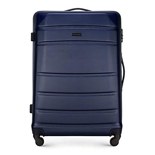 WITTCHEN Koffer – Großer   hartschalen, Material: ABS   hochwertiger und Stabiler   Dunkelblau   77x67x54 cm