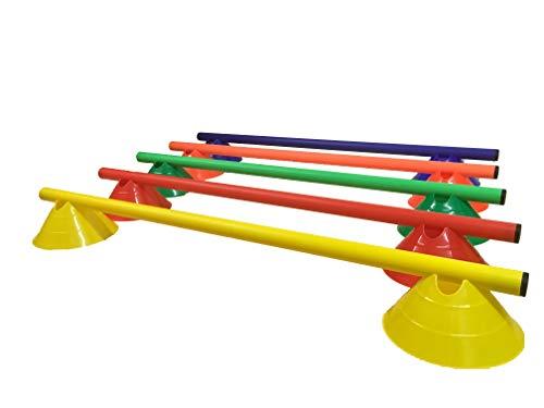 LA-24 5er Set Minihürden 8 cm, Hürden für Agility in 5 Farben
