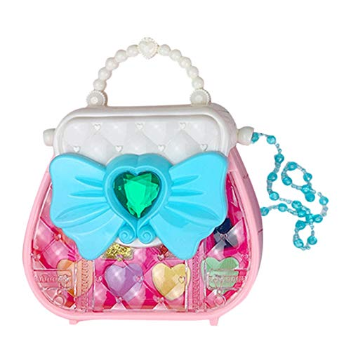 Kit de maquillaje para niños para niñas, juego de rol, neceser de belleza, no tóxico, kit de juguetes cosméticos para niñas, regalo