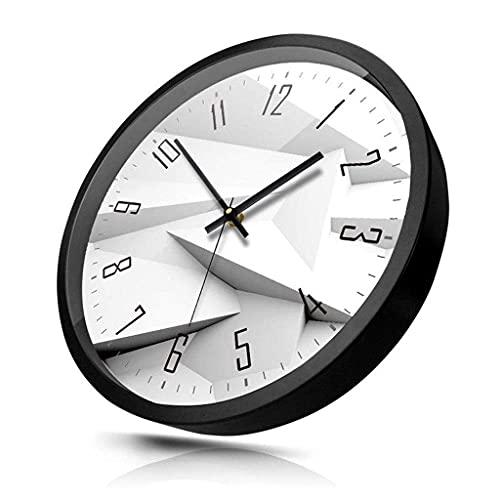 ZHOUJ Reloj clásico Redondo, Sala de Estar Creativa Moderna Mute no Gota Respuesta Antigua Reloj de Pared Decorativo (Color: Blanco, tamaño: 30 cm)