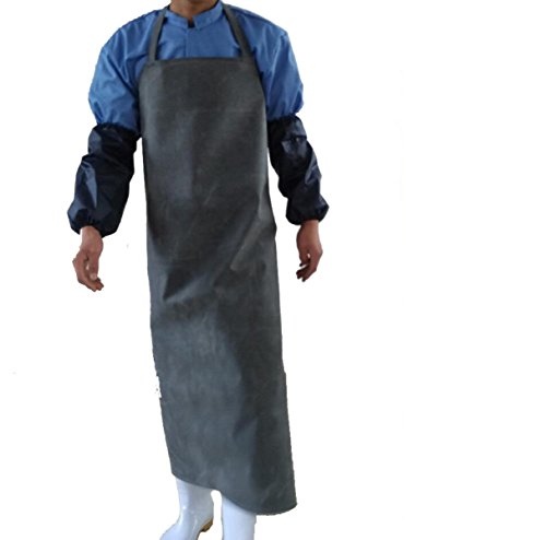 YIFANFENGSHUN Engrosamiento De Caucho Impermeable Aceite Fábrica De Alimentos Matadero Industrial Hogar Hombres Mujeres Limpieza Y Delantal,Black120*85cm