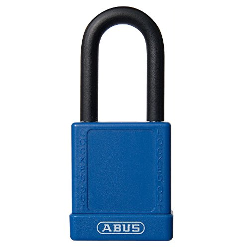 """UltraSource Non-Conductive Padlock for Lockout/Tagout, 1.5"""" Shackle, Black"""