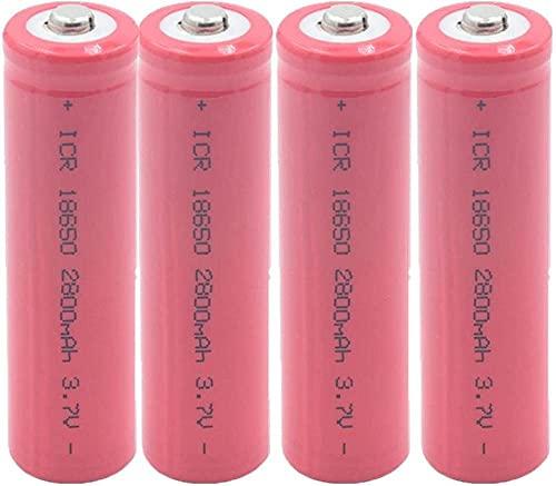 4 Piezas 18650 3.7V 2800 Mah Batería Recargable De Iones De Litio para Faros Linterna Electrónica Micrófono De Juguete Radio Banco De Energía Cámara De Control Remoto