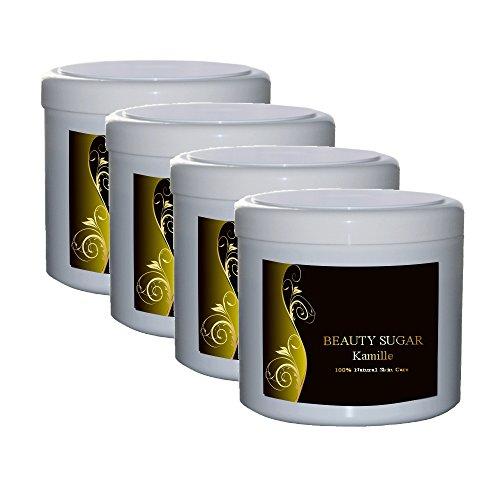 Beauty Sugar CAMOMILLE Avantage Pack–4Boites A 500g au prix–Pâte à sucre pour l'épilation–4x 500g au sucre