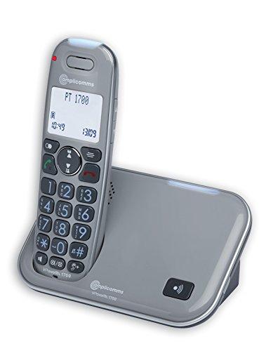 Amplicom PowerTel 1700 Telefono DECT Identificatore di chiamata Grigio